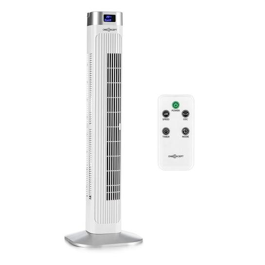HIGHTOWER 2G вентилатор колона правостоящ вентилатор 50W таймер бял