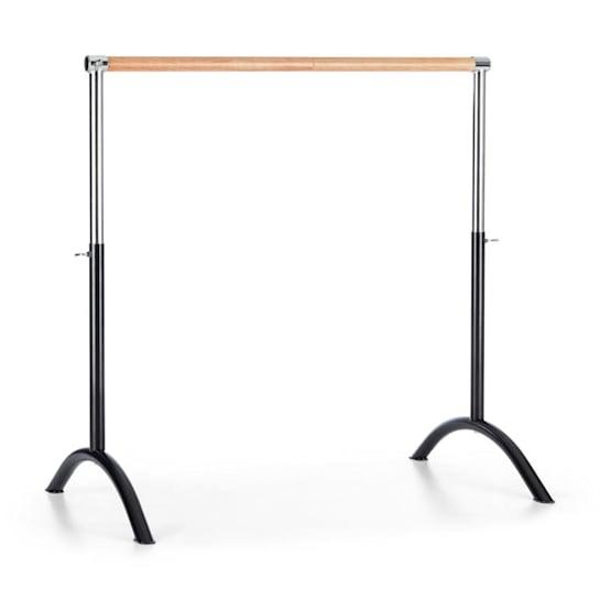 Bar Lerina hordozható balett rúd, 110x113 cm, állítható magasság, acél, fekete