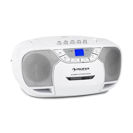 BeeBerry Boom Box Ghettoblaster Radio CD/MP3-Player Kassettenplayer