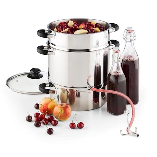 Applebee parni sokovnik, posoda sokovnik, električni, 1500 W, Ø25cm , 8 litrov, nerjaveče jeklo