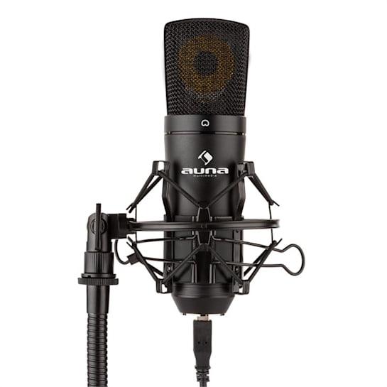 MIC-920B USB кондензаторен микрофон студио USB голяма микрофонна диафрагма черен