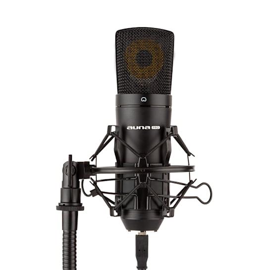 MIC-920B USB Condenser Microphone Studio USB Large Diaphragm Microphone Black