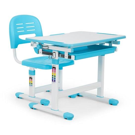 Tommi Kinderschreibtisch-Set 2-tlg. Tisch Stuhl höhenverstellbar blau