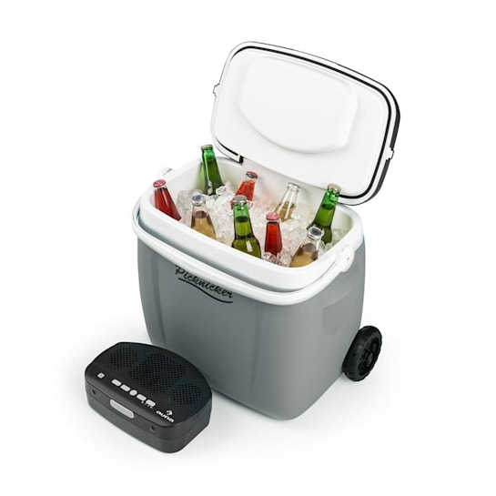 Picknicker Trolley Music Cooler 36l Frigorífico Altifalante BT cinza