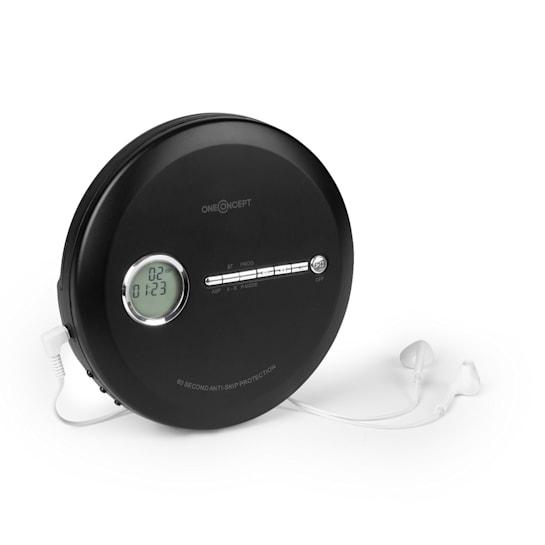 CDC 100 MP3 Discman CD-soitin kannettava tärinänvaimennin ESP micro-USB musta