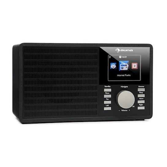 """IR-160 Internetradio WLAN USB AUX UPnP 2.8"""" TFT Fernbedienung schwarz"""