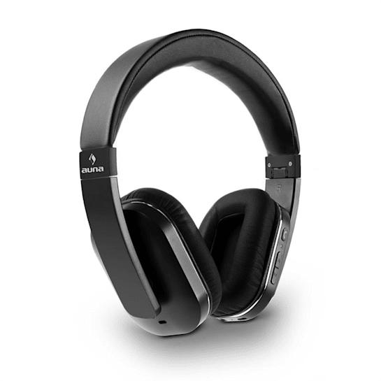 Elegance ANC Bluetooth NFC Headphones Hands-free Noise Cancellation Black