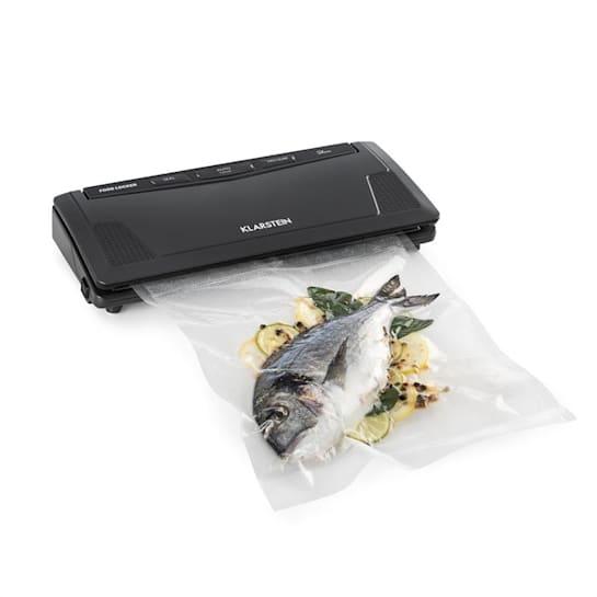 FoodLocker Slim, уред за вакуумиране, 130W, двоен шеф, 10 плика, антрацитен цвят