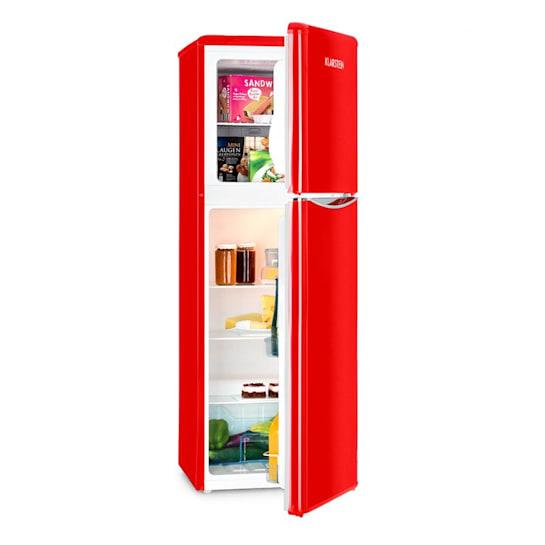 Monroe XL RED, Kombiniran hladilnik, zamrzovalnik, 97/39L, A+, Retro oblika, Rdeča barva