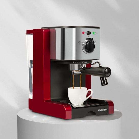 Passionata Rossa 15, espresso kávovar, 15 barů, cappuccino, mléčná pěna, červený