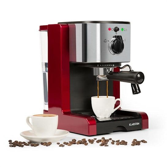 Passionata Rossa 20 Espresso Machine 20 bar Capuccino Milk Foam red