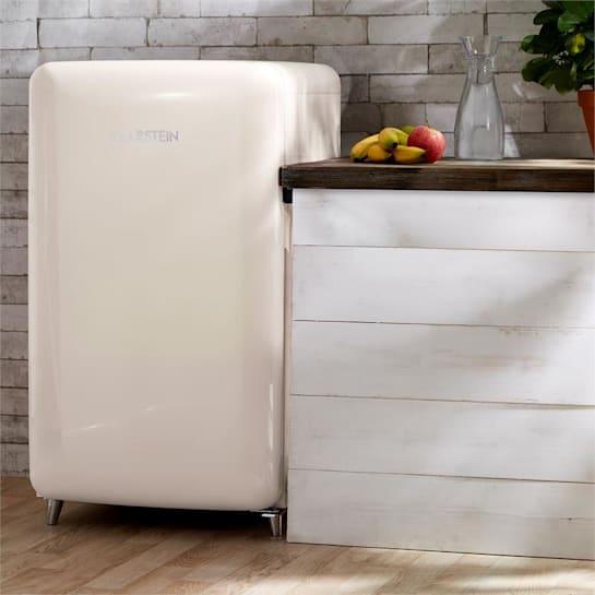 PopArt-Bar Creme retró hűtőszekrény, 136 l, 3 emelet, zöldségrekesz, A+, krémszínű