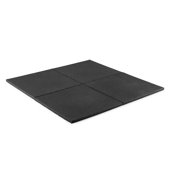 RUB20 Bodenschutzmatte Abwurfmatte 50x50cm 4Stk. Vollgummi Ø2cm