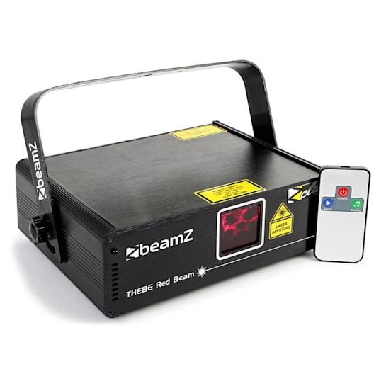 Thebe showlaser 150mW punainen 9-DMX Master/Slave automaattinen IR-kaukosäädin
