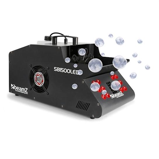 SB1500LED füstgép + buborékfújó, RGB LED, 1500 W, 1,35 l tartály, DMX