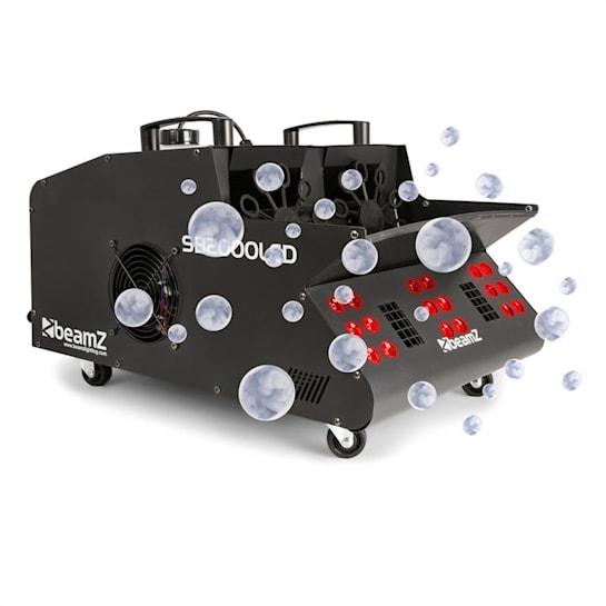 SB2000LED füstgép + buborékfújó, RGB LED, 2000 W, 1,35 l tartály, DMX