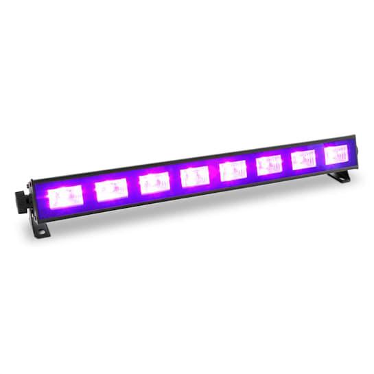 BUV93, LED bar, fekete LED fénysáv, 8 x 3 W, UV LED