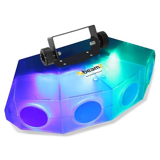 Mini-Moonflower fényhatás, 4 LED lencsével, 132xRGBA-LED, átlátszó színű