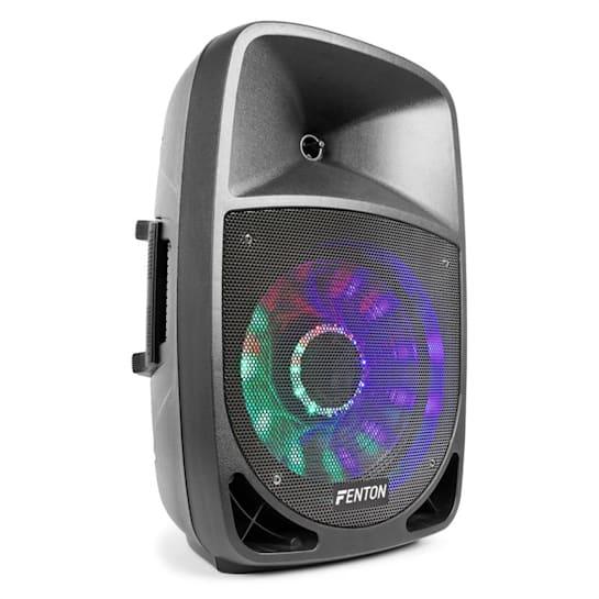 "FT1200A Aktiv-Lautsprecher 250W 12"" MP3 Bluethooth USB SD AUX LED LCD"