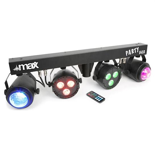 LED-partybar, 2xPAR-RGBW-LED + RGBW-jellball, včetně stojanu a dálkového ovládání