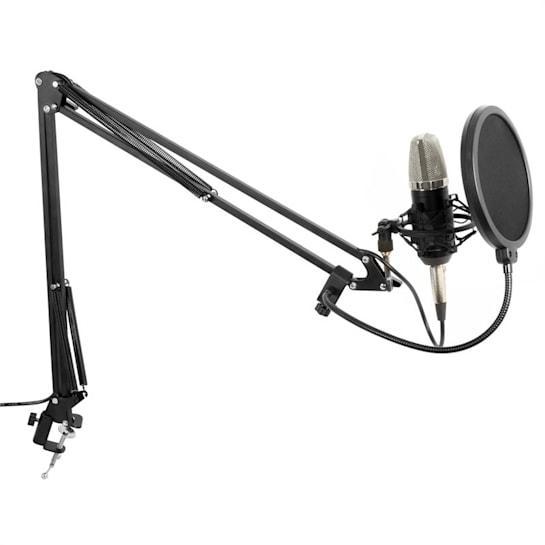 Studio Set Large Diaphragm Microphone incl. Table Arm, Shockmount, Windscreen, Cable