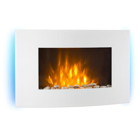 Lausanne Electric Fireplace 2000 Watts Remote Control White