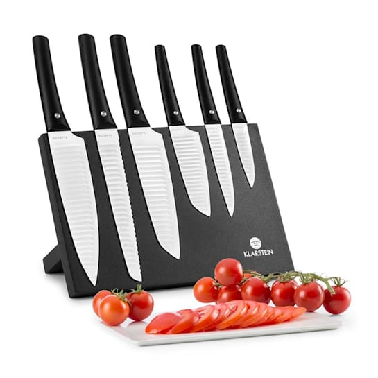 Kashira Knife Set 7-pc Magnetic Block Ceramic Layer Stainless Steel white