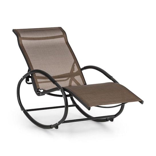 Santorini fotel bujany leżak brązowo-czarny