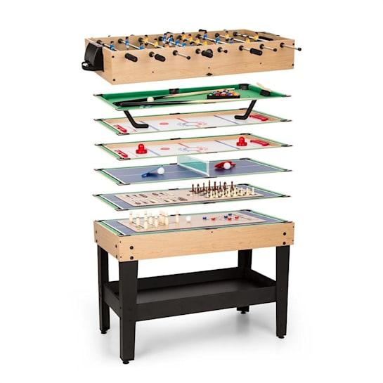 GAME-STAR, masă de joc cu 15 jocuri, multigame, sertar pentru depozitare, mdf