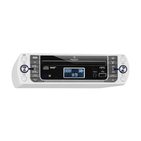 KR-400 CD kelloradio, DAB+/PLL FM, CD-/MP3-soitin hopeanvärinen
