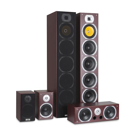 V9B Juego de altavoces con sonido envolvente Set de 5 altavoces 440W RMS caoba