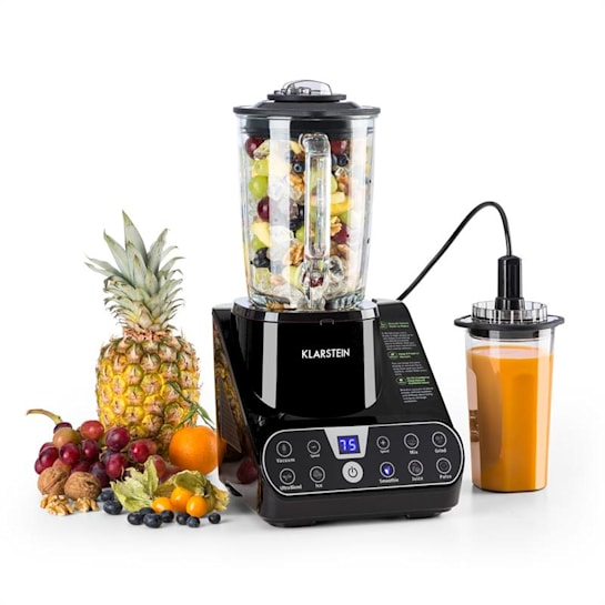 Airakles Vacuum Blender 1300W 26000rpm 1.5L Glass Jug black