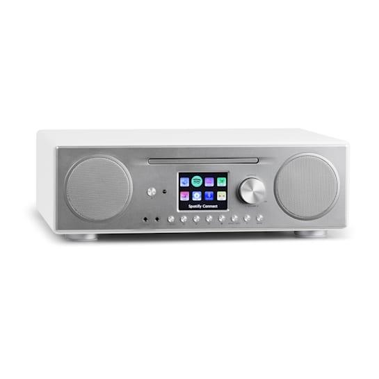 Connect CD Internet Radio Media Player BT MP3 DAB+ Spotify Connect Radio White