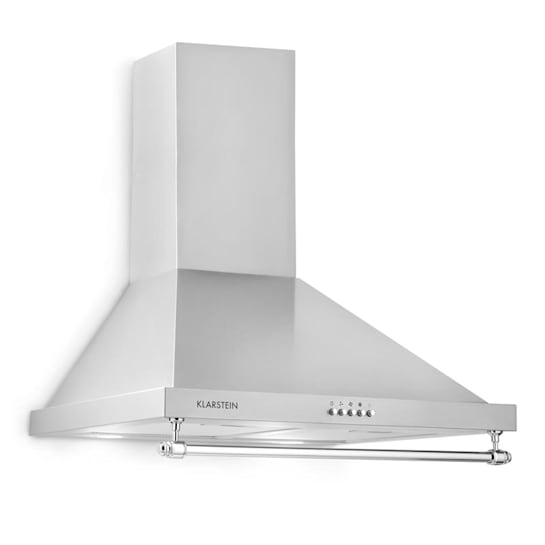 Montblanc, odsavač par, 610 m³ / h, 165W, 2x1,5W LED, závěsná tyč, šedostříbrná barva