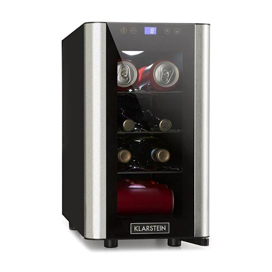 Vinovista Picollo Getränkekühlschrank 24l 8 Fl. LED Glastür
