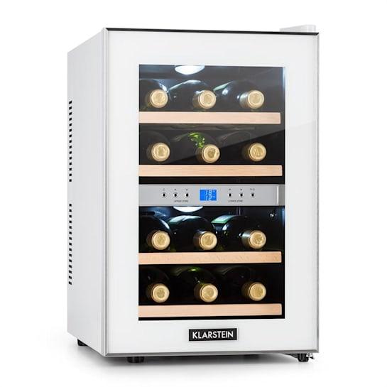 Reserva Weinkühlschrank 34l 2 Kühlzonen 12 Weinflaschen 7-18 °C weiß