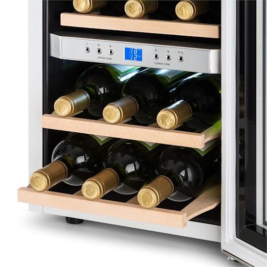 Klarstein Reserva Wine Cooler 34l 2 Cooling Zones 12 Wine