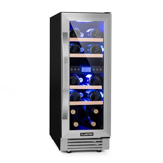 Vinovilla Duo17 Two-zone Wine Refrigerator 53l 17 Bolttles 3-colour Glass Door