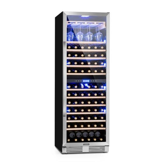 Vinovilla Grande Duo, veliko prostorska vinoteka, hladilnik, 425l, 165 steklenic, tribarvna LED osvetljava