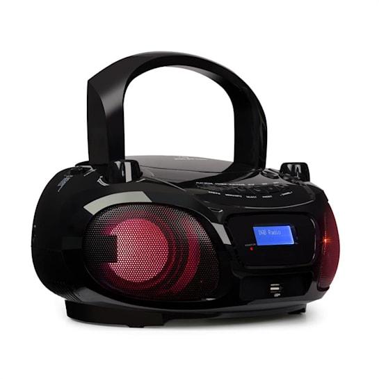 Roadie DAB CD-Player DAB/DAB+ UKW LED Disco Light Effect Bluetooth schwarz
