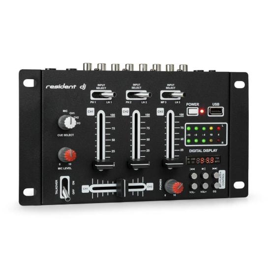 DJ-21 Mixer per DJ USB nero