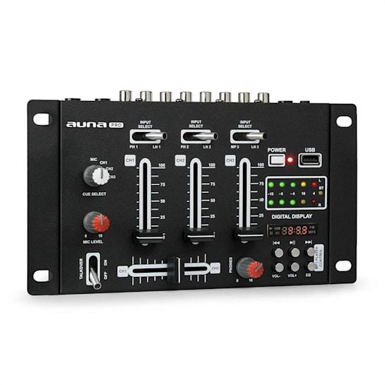 DJ-21 BT DJ-Mixer Mischpult Bluetooth USB