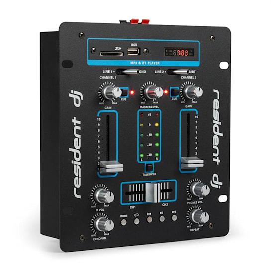 DJ-25 Mixer per DJ Amplificatore Bluetooth USB nero/blu