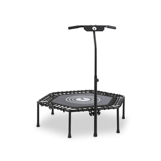"""Jumpanatic fitness trampolína, 44 """"/ 112 cm Ø, rukojeť, sklápěcí, černá barva"""