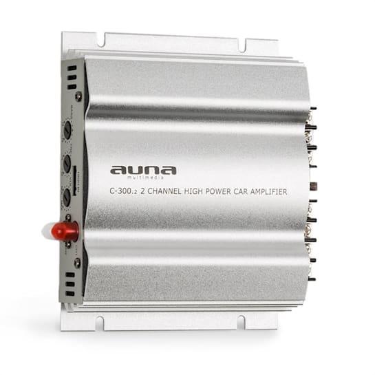 C300.2 2-kanavainen auton päätevahvistin 800 W PMPO 200 W RMS hopeanvärinen