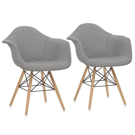 Visconti židle, 2-dílná sada, polstrovaná PP-konstrukce, černá barva