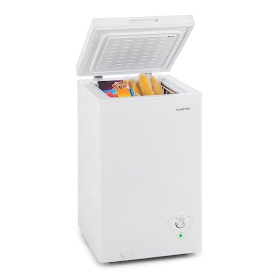 Iceblokk 60 fagyasztóláda, 60 liter, A+, fagyasztó kosár, kerekek, fehér