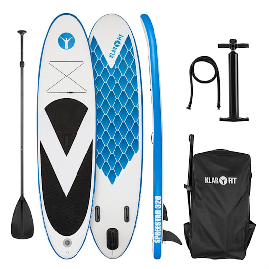 Spreestar 320 aufblasbares Paddelboard SUP-Board-Set 320x12x81 blau-weiß
