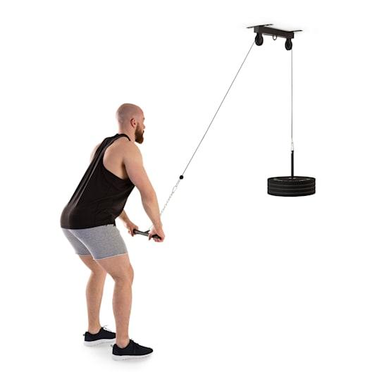 Hangman Latzug Deckeninstallation 2m Kabel Trizepsstange schwarz