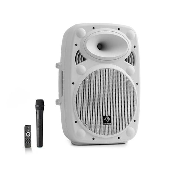 "Streetstar 10 Impianto PA Portatile 10"" (25,5 cm) Microfono UHF 400 Watt max. Bianco"